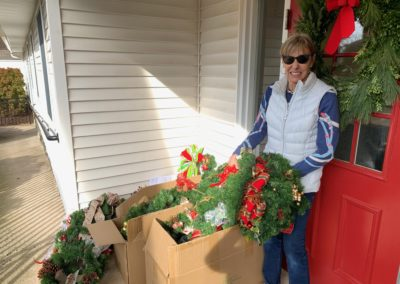 wreaths from the Four Counties Garden Club