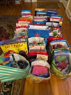 birthday bags donated by Beaumont families